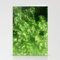 Digital Pointillism Stationery Cards