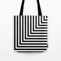 Black and White L Stripes // www.pencilmeinstationery.com Tote Bag