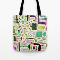Modern Furniture Collage Tote Bag