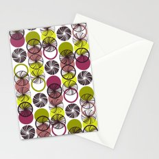 Black Border Abstract Circles Stationery Cards