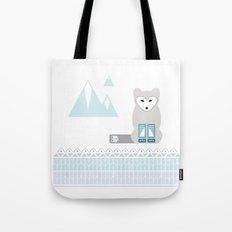 Kettu the Arctic Fox Tote Bag