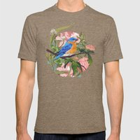 Blue Bird Mens Fitted Tee Tri-Coffee SMALL