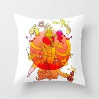 Naga Boo Throw Pillow