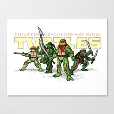 Philippine Revolutionary Ninja Turtles Canvas Print