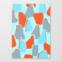 Blue Boulder Canvas Print