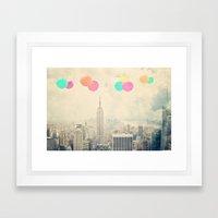 Balloons over the City Framed Art Print