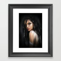Pale Feathers Framed Art Print