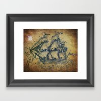 The Great Sky Ship Framed Art Print