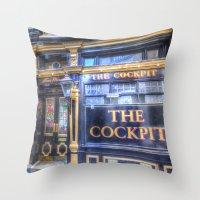 The Cockpit Pub London Throw Pillow