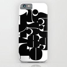 Numbers Black Slim Case iPhone 6s