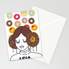 Princess Donut Leia Stationery Cards
