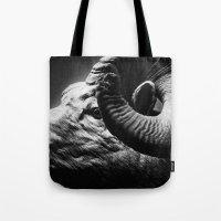 Tom Feiler Black and White Ram Tote Bag