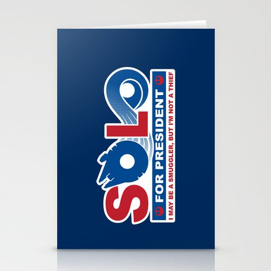 Solo for President Stationery Card