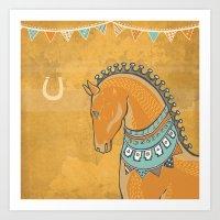 Horse Head - Chrome Art Print