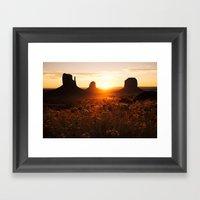Sunrise In Monument Vall… Framed Art Print