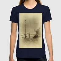 Light of Yester-Year Womens Fitted Tee Navy SMALL