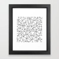 Abstract Outline Black on White Framed Art Print