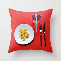 Primary Colours : Breakfast Throw Pillow