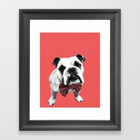 Red Bowser Framed Art Print