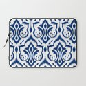 Ikat Damask Navy Laptop Sleeve