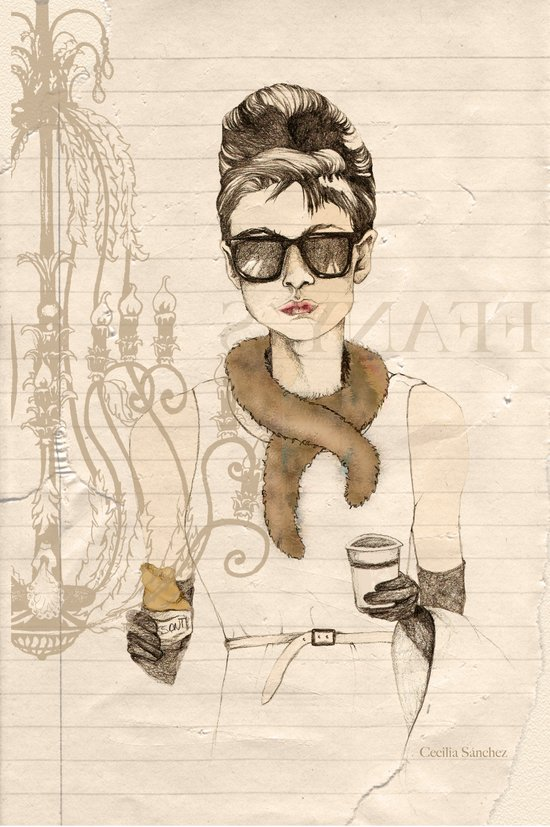 My breakfast at Tiffany's Art Print