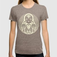 Nesting Womens Fitted Tee Tri-Coffee SMALL