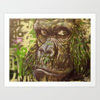 Gorilla Funk (Living On … Art Print