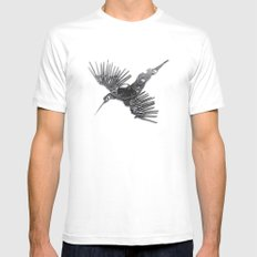 Rad's Birds Mens Fitted Tee White SMALL