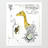 The Gyraffe Art Print
