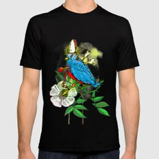 Bad Bad Birdy SMALL Black Mens Fitted Tee