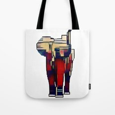 Elephant in the Abstract Tote Bag