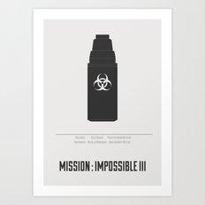Mission : Impossible III - minimal poster Art Print