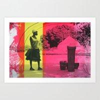 Ma'di Drummer Art Print