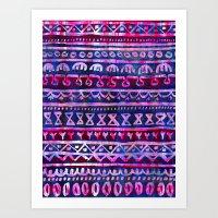Hau'oli Stripe Purple Art Print