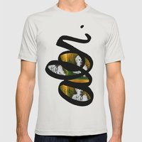 Wing Series Three (Angel) Mens Fitted Tee Silver SMALL