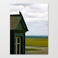 Mont Saint Michel #1 - A House Canvas Print