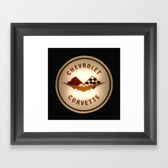 Corvette Symbol Logo Framed Art Print By Shelbylynn Society6