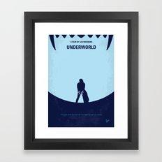 No122 My UNDERWORLD minimal movie Framed Art Print