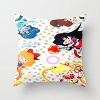 Sailor Bubbahs Throw Pillow