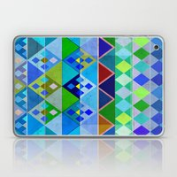 Cobalt Blue Diamond pattern Laptop & iPad Skin