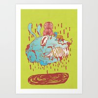 Thump, Thump! Art Print
