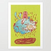 thump, thump! Art Print