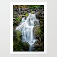 Waterfall, Spray Park, M… Art Print