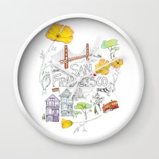 Friends + Neighbors : San Francisco Wall Clock