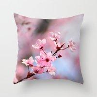 Pink spring...... Throw Pillow