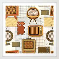 Vintage Screens Art Print