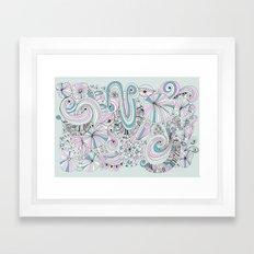Doodle my feeling Framed Art Print