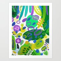 Between The Branches. V Art Print