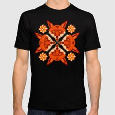 Fox Cross geometric pattern Mens Fitted Tee Black SMALL