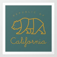 Republic of California Art Print